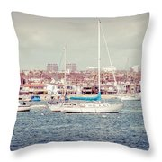 Newport Beach Panorama Throw Pillow