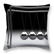Newtons Cradle Throw Pillow