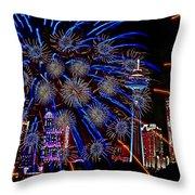 Niagara Fireworks Throw Pillow