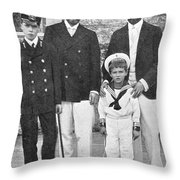 Nicholas II & George V, 1909 Throw Pillow