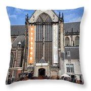 Nieuwe Kerk In Amsterdam Throw Pillow