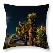Night Desert Throw Pillow