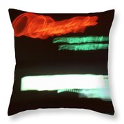 Night Lights Orange Drive-in 2 Throw Pillow
