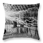 Nikola Tesla Serbian-american Inventor Throw Pillow