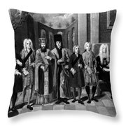 Nikolaus Von Zinzendorf (1700-1760) Throw Pillow