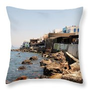 Nisyros Island Greece Throw Pillow