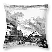 Norfolk, Virginia, 1856 Throw Pillow
