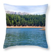 North Catamount Lake Throw Pillow