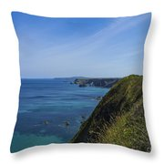 Photographs Of Cornwall North Coast Cornwall Throw Pillow
