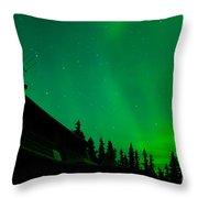 Northern Lights - Aurora Borealis - Substorm Throw Pillow