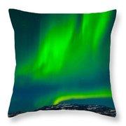 Northern Lights Or Aurora Borealis Throw Pillow