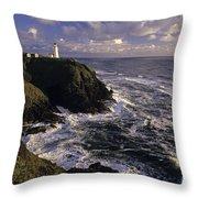Northhead Ilwaco Lighthouse Throw Pillow