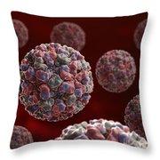 Norwalk Virus Throw Pillow