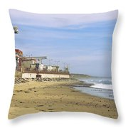 Nuclear Power Plant On The Beach, San Throw Pillow