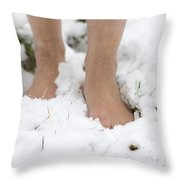 Nude Feet Throw Pillow