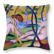 Nudes Under Trees Throw Pillow