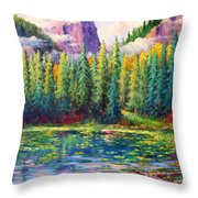 Nymph Lake Throw Pillow