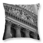 Nyse  New York Stock Exchange Wall Street Throw Pillow