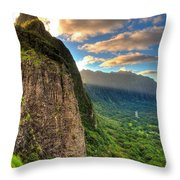 Oahu Paradise Throw Pillow