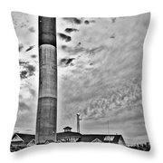 Oak Island Lighthouse  Throw Pillow