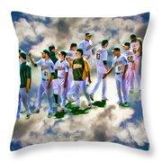 Oakland A's High Five Throw Pillow