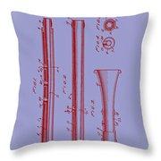 Oboe Patent 1931 Throw Pillow