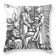 Obstetrical Chair Throw Pillow