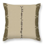 O'carroll Written In Ogham Throw Pillow
