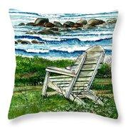 Ocean Chair Throw Pillow