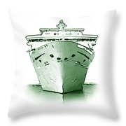 Ocean Liner Throw Pillow