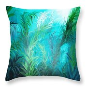 Ocean Plants Throw Pillow
