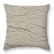 Ocean Sand Art Hearts Left Side Throw Pillow