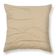 Ocean Sand Art Throw Pillow