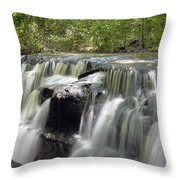 Odom Creek Waterfall Georgia Throw Pillow