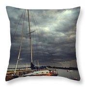 Off The Sea Throw Pillow