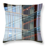 Office Building Windows Throw Pillow