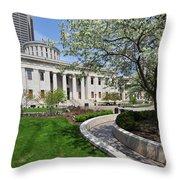 D13l-145 Ohio Statehouse Photo Throw Pillow