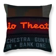 Ohio Theater Marquee Theater Sign Throw Pillow