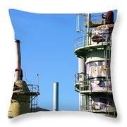 Oil Refinery Throw Pillow