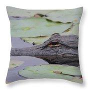 Okefenokee Gator Throw Pillow