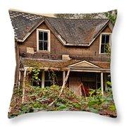 Old Abandon House Throw Pillow