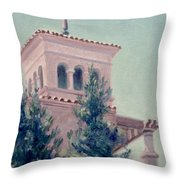 Old Bell Tower Throw Pillow