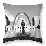 Old Courthouse Saint Louis Mo Throw Pillow