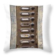 Old Doorbells Throw Pillow