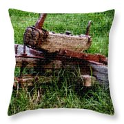 Old Farm Implement H B Throw Pillow