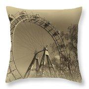 Old Ferris Wheel Throw Pillow