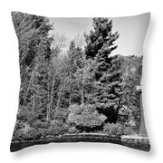 Old Forge Lighhouse Throw Pillow
