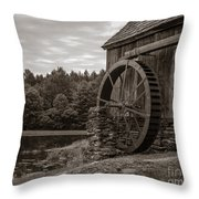 Old Grist Mill Vermont Throw Pillow by Edward Fielding