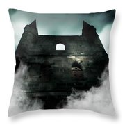 Old Haunted Castle Throw Pillow