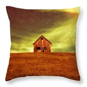 Old House On The Hill Throw Pillow by Edward Fielding